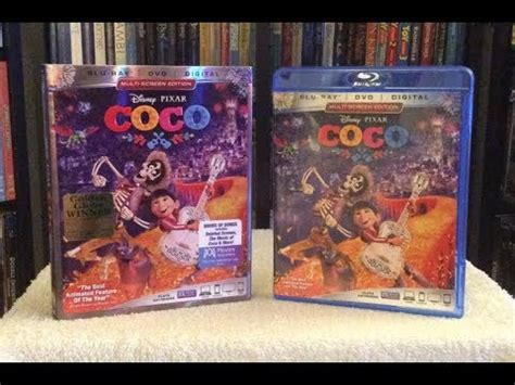coco blu ray coco blu ray review unboxing disney pixar youtube