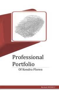 professional portfolio cover page