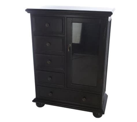 Curio Cabinet With Drawers by Homereflections Antique Finish Accent Curio Cabinet With