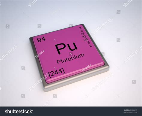 Pu Periodic Table by Plutonium Chemical Element Of The Periodic Table With
