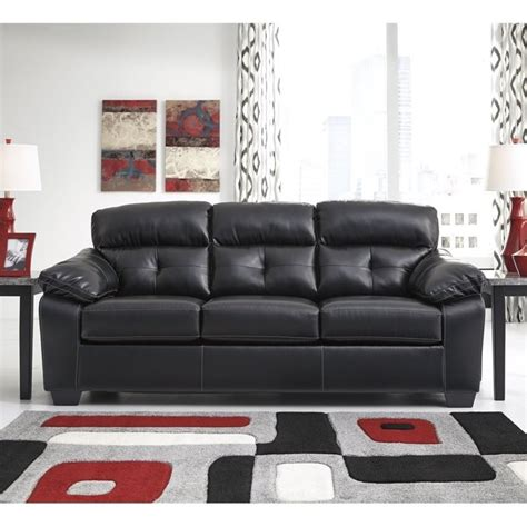 ashley leather sleeper sofa ashley bastrop leather full size sleeper sofa in midnight