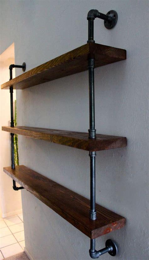 wood shelving unit wall shelf industrial shelves rustic