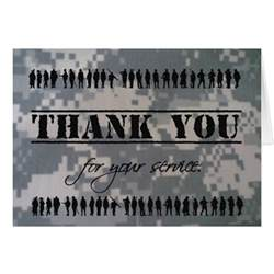 thank you for your service veteran card zazzle