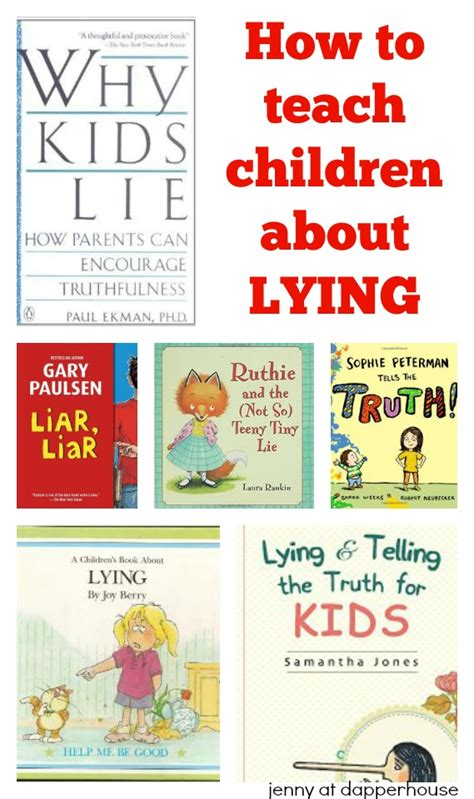 picture books about lying how to teach your child about lying