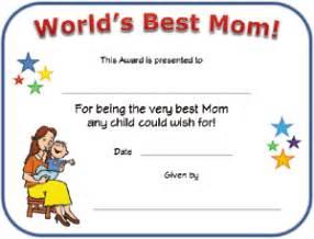 world s best mom certificate all kids network