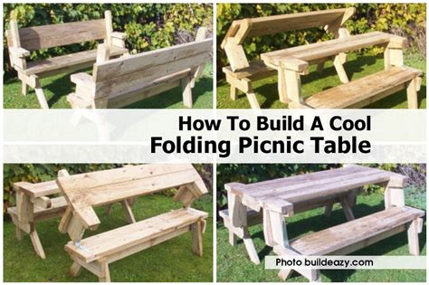 how to build a cool folding picnic table