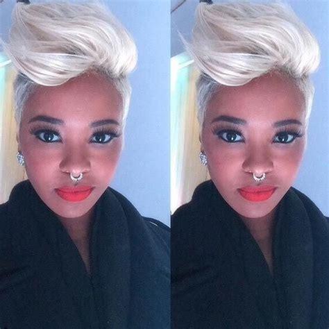 platnim blonde hair after 50 50 short hairstyles for black women pompadour platinum