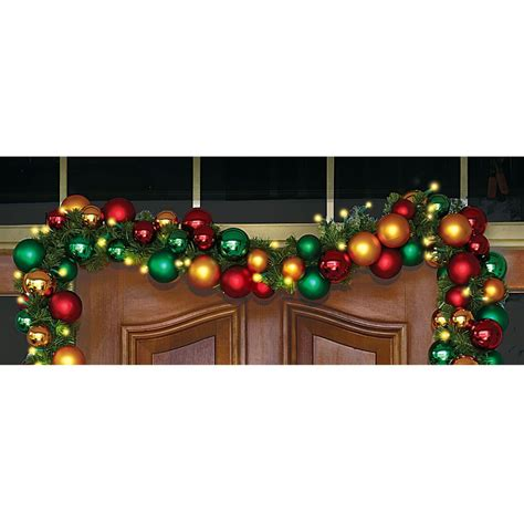 the ornament ball cordless prelit garland hammacher