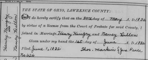 County Ohio Marriage Records Henry Kingery The Spelling Lesson 52 Ancestors 39 No Story Small