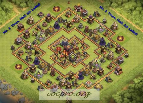 coc layout new update latest th10 farming trophy defensing war base layouts