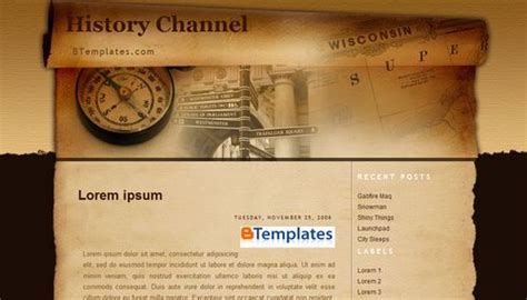 history templates for blogger history channel blogger template btemplates