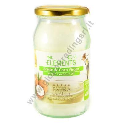 coco olio elements aceite de coco virgen olio di cocco 6x500ml