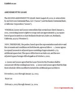 Lease Amendment Request Letter Sle Lease Amendment Free Printable Documents