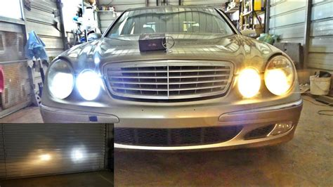mercedes  led headlight bulbs youtube