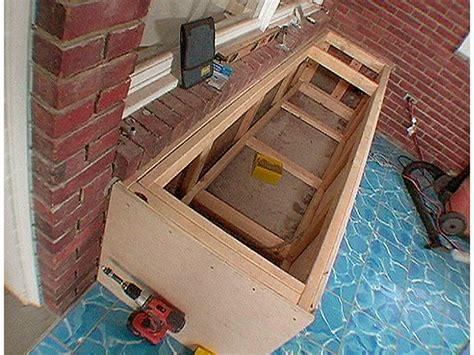 diy storage bench seat plans diy  plans