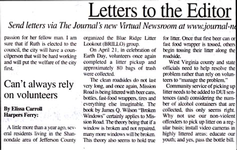 Complaint Letter Newspaper Editor An Exle For Us All Shannondale Beyond Inc Community Forum