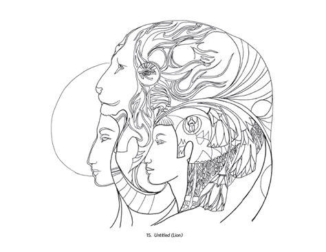coloring pages of spirit animals susan seddon boulet animal spirits coloring book