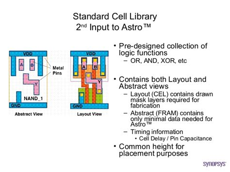 cell layout definition asic backend design