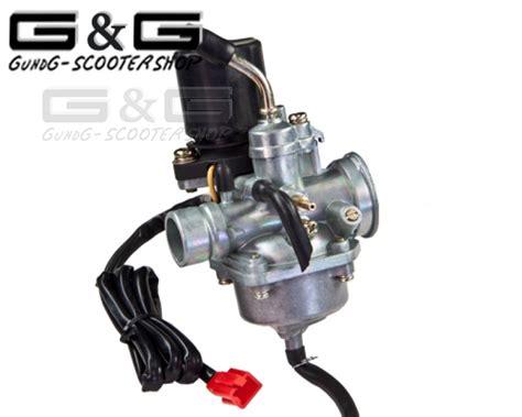 buitenboordmotor stationair afstellen carburateur mikuni replica 17 5mm e choke baotian cpi