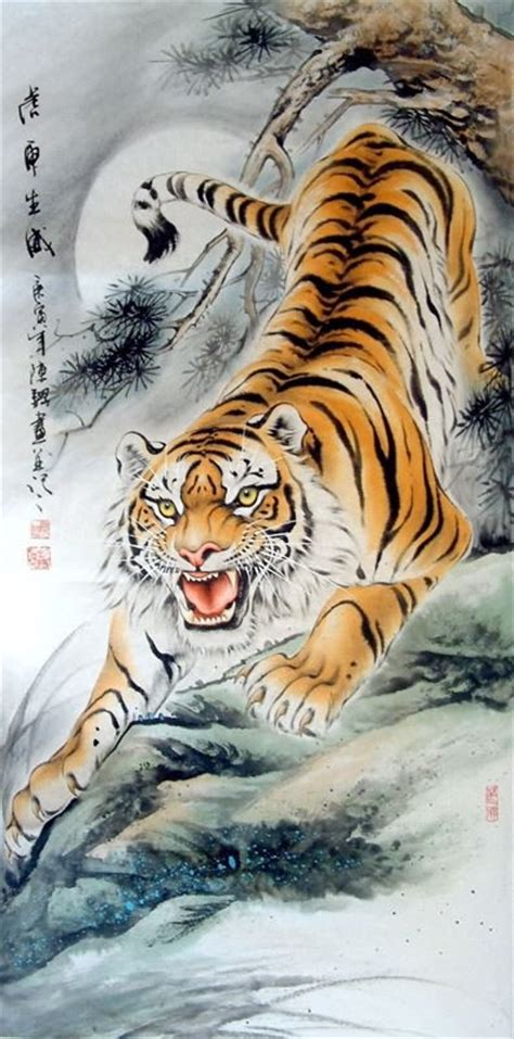 chinese tiger tattoo tiger painting 4696002 66cm x 136cm 26 x 53