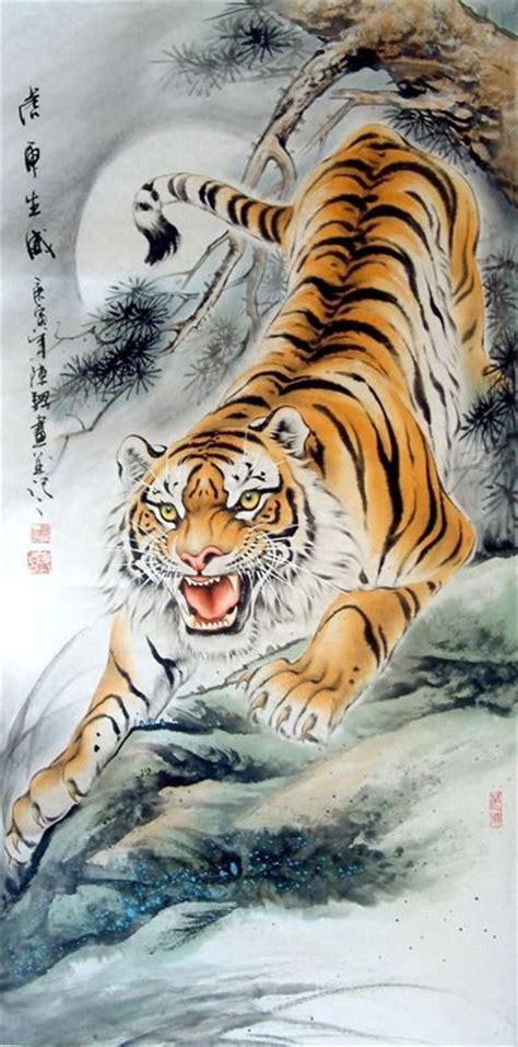chinese tiger tattoo tiger painting 4696002 66cm x 136cm 26 x 53