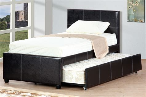leather twin bed with trundle huntington beach furniture