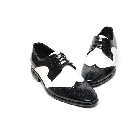 black white oxfords shoes s brown black white leather wing tip open lacing