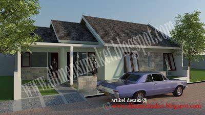desain rumah  contoh desain rumah tinggal  lantai  lahan