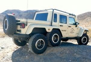 the unique 6 wheeled custom jeep wrangler road wheels