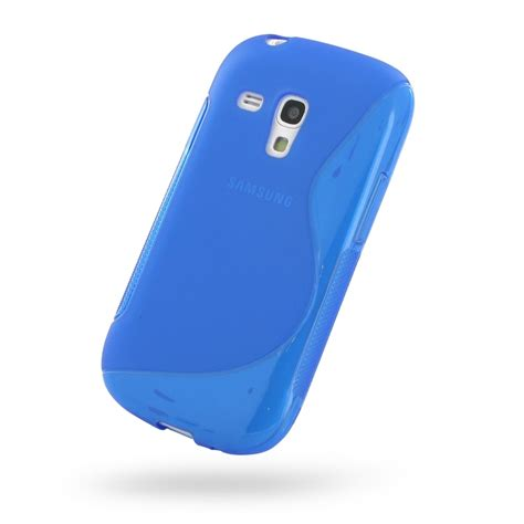 Softcase Mini 3 samsung galaxy s3 mini soft blue s shape pattern pdair