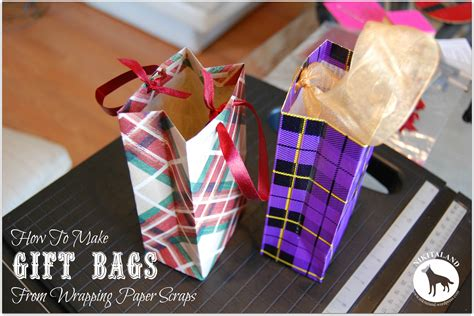 How To Make Wrapping Paper Bag - how to make a gift bag from wrapping paper scraps nikitaland