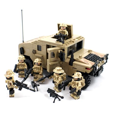 lego army humvee army humvee with desert soldier minifigures
