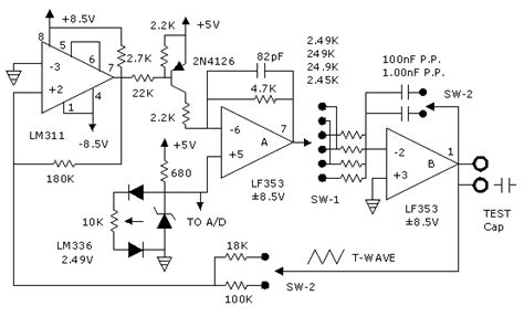 femto farad capacitor electronic circuit schematic for capacitance meter free on the