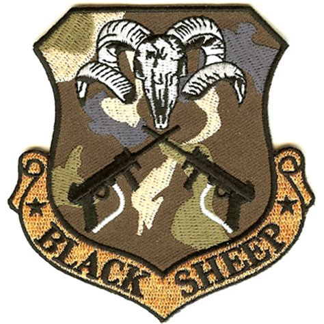 Black Patches embroidered unit patches black sheep patch american patch