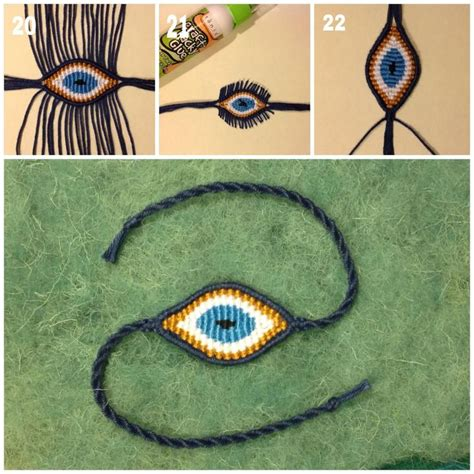 How To Make Macrame Bracelets Step By Step - diy macrame evil eye step by step photo tutorial crafts