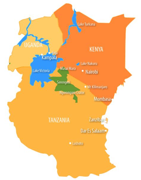 east africa map east africa map pictures