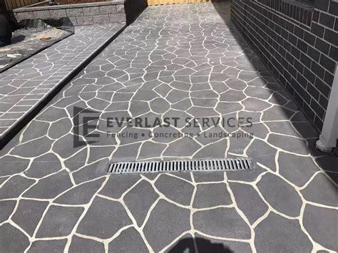 Concrete Template stencil concrete melbourne brick stenciled pattern cost