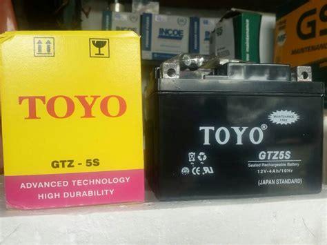 Aki Toyo Tigerscorpiothunder jual aki accu motor toyo gtz5s mf berkah battery