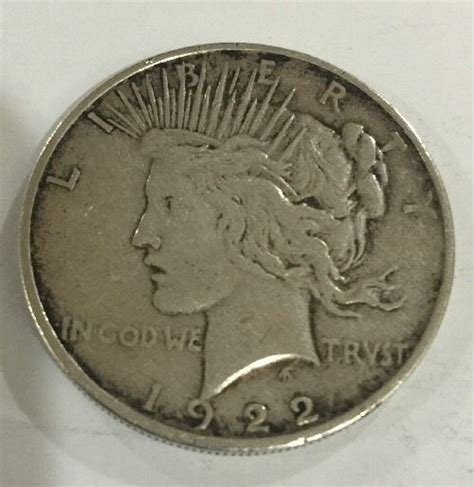 1 dollar silver coin 1922 1922 d peace liberty silver one dollar coin details