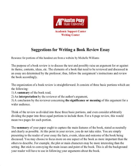 Book Report Essays by 10 Sle Book Report Free Sle Exle Format
