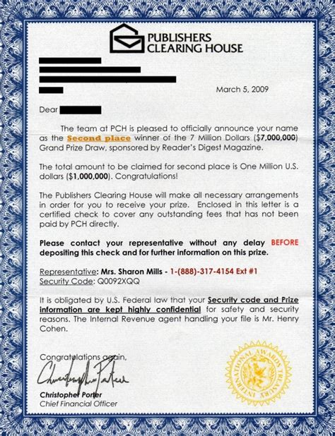Publishers Clearing House Legit - 301 moved permanently