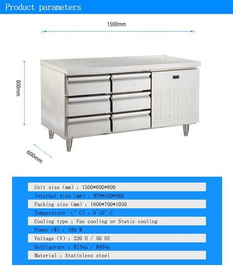 under bench fridge drawers diy drawer under counter refrigerator used stainless steel