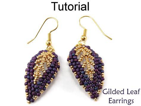 beaded earrings tutorial beading tutorial pattern beaded earrings diagonal peyote