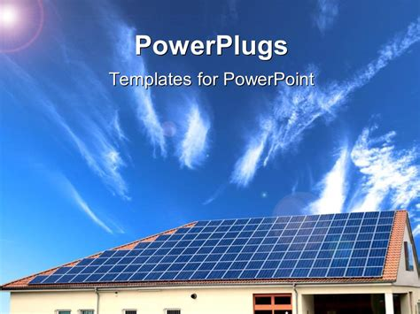 powerpoint template alternative energy solar panel with