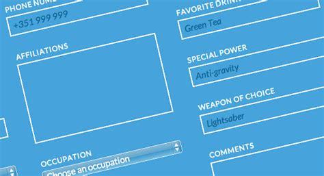 html5 form layout design blueprint responsive multi column form