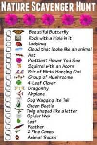 scavenger hunt checklist template 1000 ideas about nature scavenger hunts on