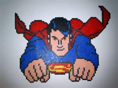 perler superman superman perler perler bead creations are bead