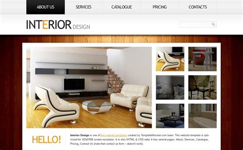 home interior website free website template clean style interior