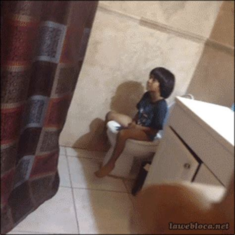 bathroom twerk toilet fail gif find share on giphy