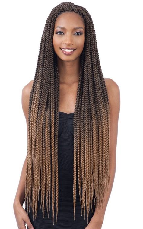 large box braids  freetress synthetic crochet pre looped braid ebay